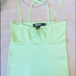 DKNY lime green camisole (EUC) size-s